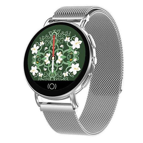 Relógio Smartwatch CF Supreme - Prata - Android e iOS