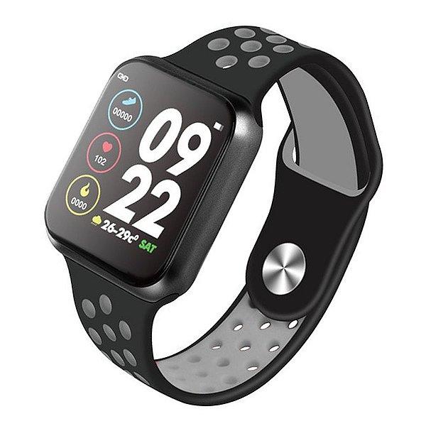 Relógio Smartwatch OLED Pró Série 3 42MM - Preto com Cinza - iPhone ou Android