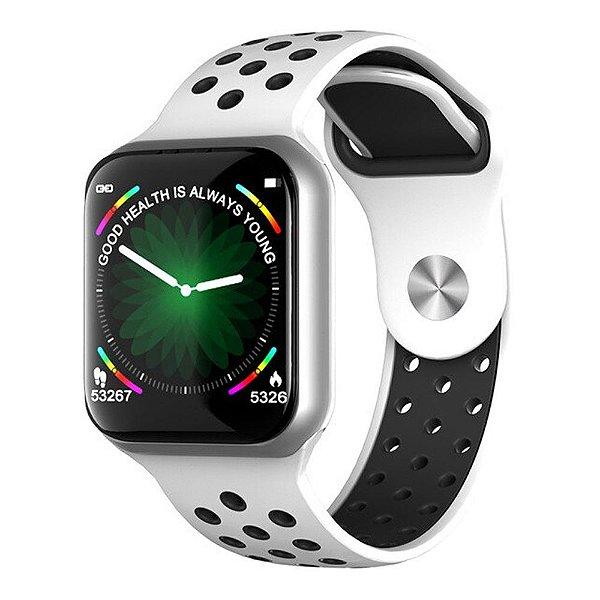 Relógio Smartwatch OLED Pró Série 3 42MM - Branco com Preto - iPhone ou Android