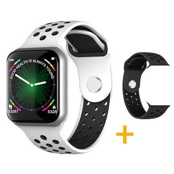 Relógio Smartwatch OLED Pró Série 3 42MM - Branco - iPhone ou Android + 1 Pulseira Brinde