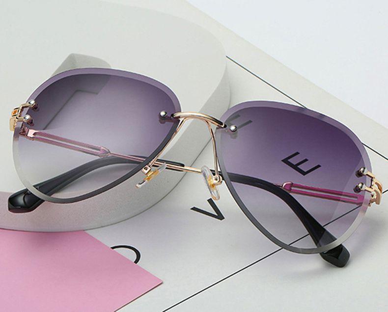 Óculos Feminino Vintage - Lente Cinza - Sem Aro