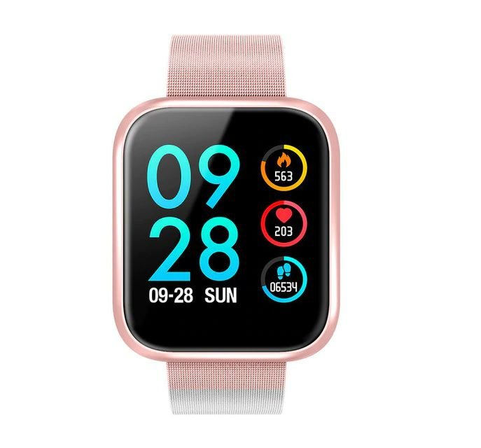 Relógio Eletrônico Smartwatch CF P70 - Rosa Milanese
