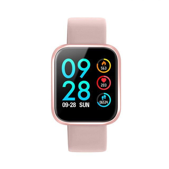Relógio Eletrônico Smartwatch CF P70 - Rosa Silicone