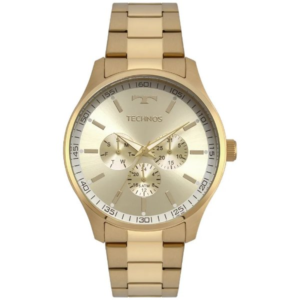 Relógio Technos Masculino Steel - Dourado - 6P29AJN/4X