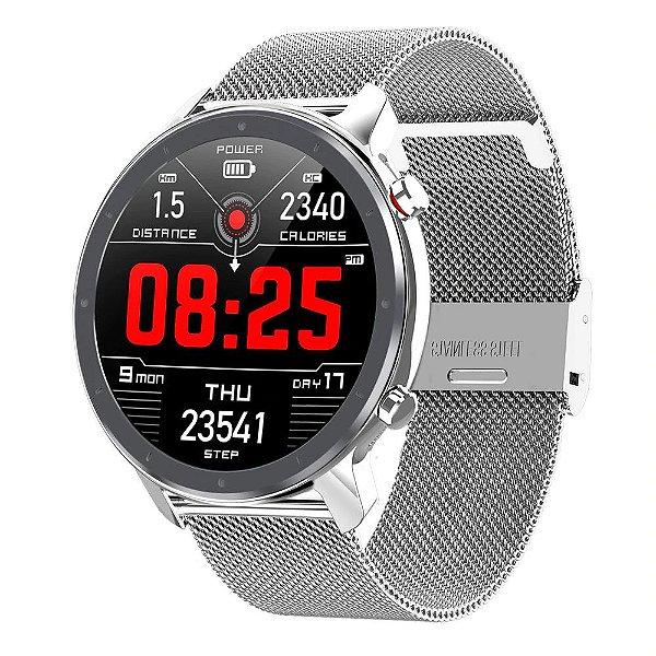 Relógio Eletrônico Smartwatch L11 - Prata - IOS e Android
