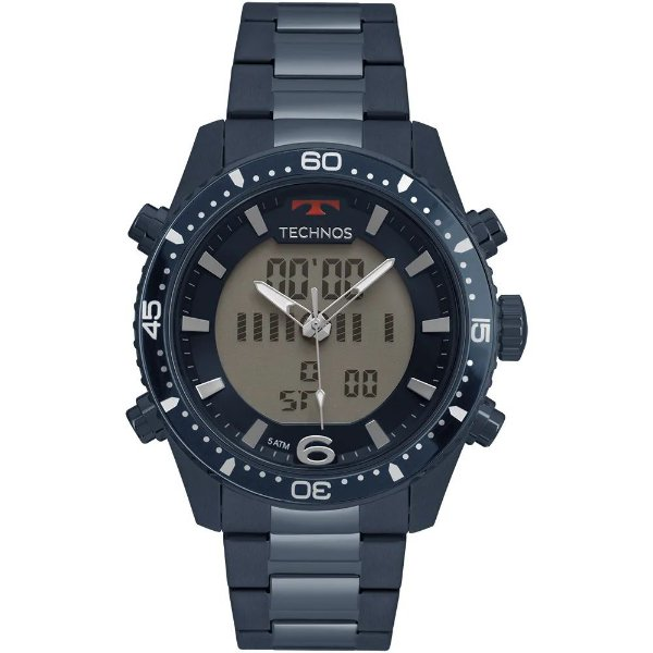 Relógio Technos Masculino Ts Anadigi - Azul - BJK203AAE/4A