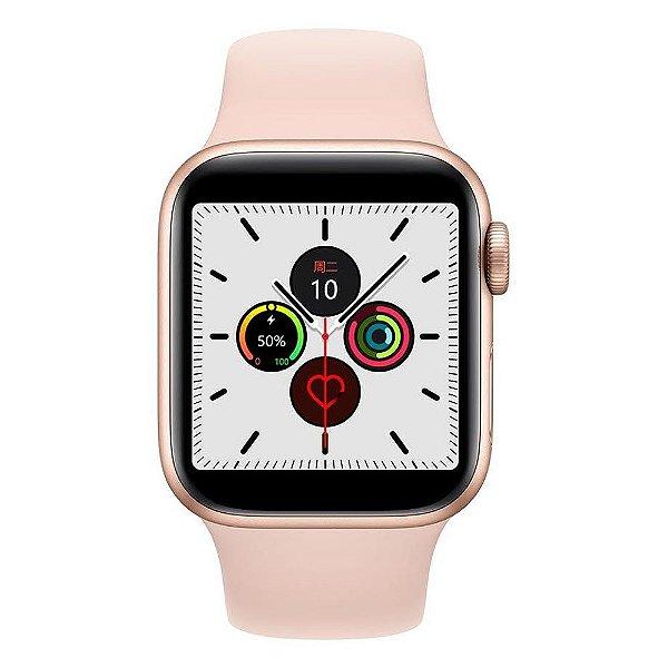 Relógio Smartwatch IWO 12 Pro Série 5 - Rosa - 44mm