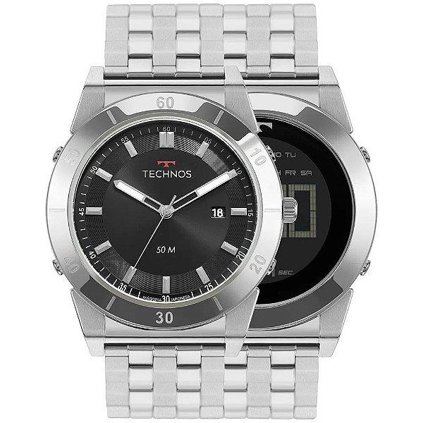 Relógio Technos Masculino Curvas - Prata - 1S13CS/1P