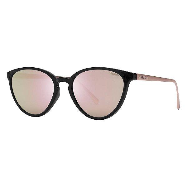 Óculos Euro Feminino - Preto com Rosé - E0059ADR46/8J