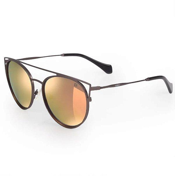 Óculos Euro Feminino Recortes Metalizados - Grafite - E0015D1646/4F