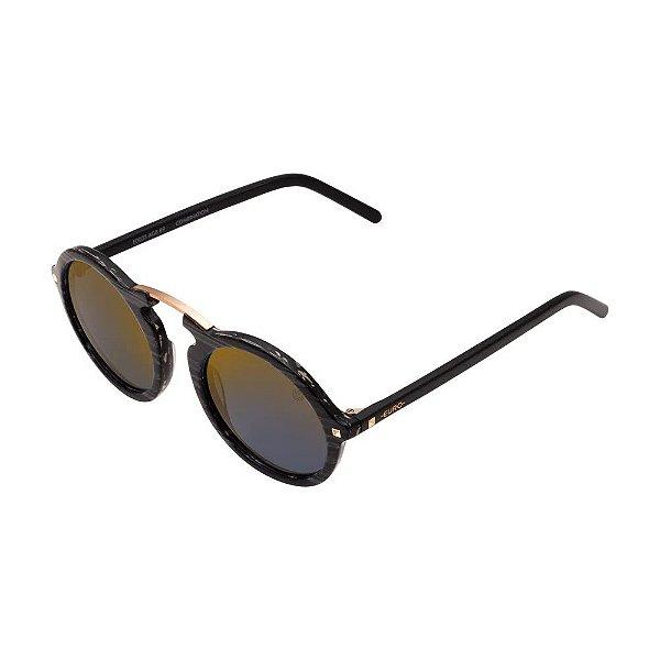 Óculos Euro Casual Vintage Feminino - Preto - E0033AGB89/8A