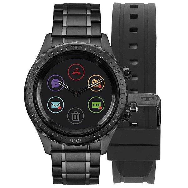 Relógio Smartwatch Technos Connect Duo Preto - P01AB/4P + 1 Pulseira de Brinde