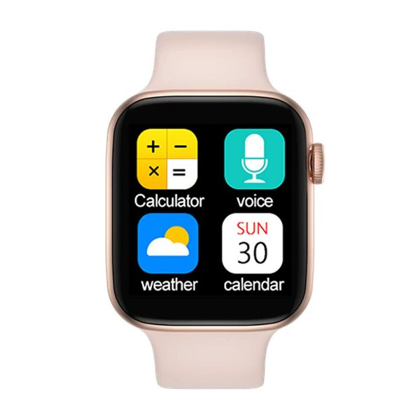 Relógio Smartwatch IWO T5 PRO - Rosa - iOS / Android - 44mm