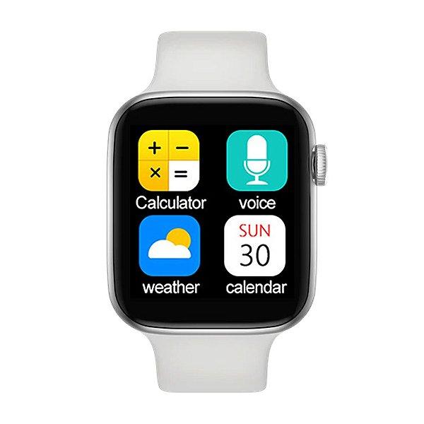 Relógio Smartwatch IWO T5 PRO - Branco - iOS / Android - 44mm