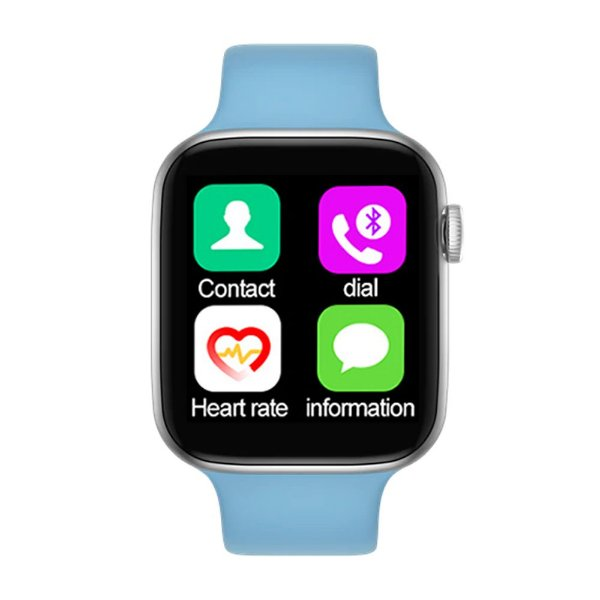 Relógio Smartwatch IWO T5 PRO - Azul Claro - iOS / Android - 44mm