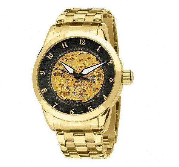 Relógio Technos Masculino Classic Automático - Dourado - 8N24AC/4P