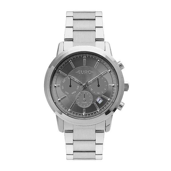 Relógio Euro Feminino Multi Basics Pushers - Prata - EUJP25AA/3C