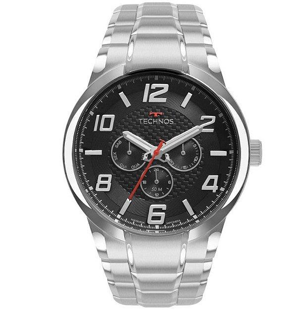 Relógio Technos Masculino Racer - Prata - 6P79BO/1P