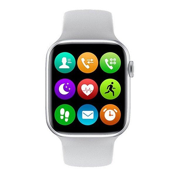 Relógio Smartwatch IWO W26 - Branco - Tela Infinita - IOS / Android - 44mm