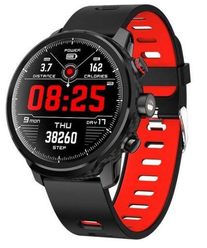 Relógio Eletrônico Smartwatch Magnus Stratos L5 - Preto com Vermelho  - IOS e Android
