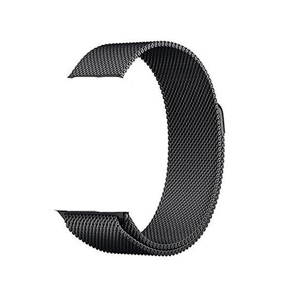 Pulseira de Aço Milanês - Compatível com Smartwatch F10 - Preto