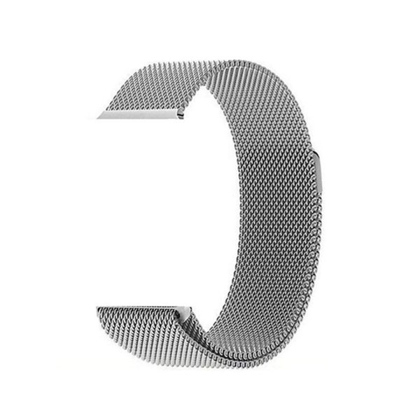 Pulseira de Aço Milanês - Compatível com Smartwatch F10 - Prata