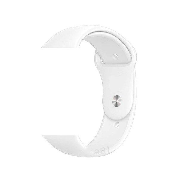 Pulseira de Silicone - Compatível com Smartwatch F10 - Branco