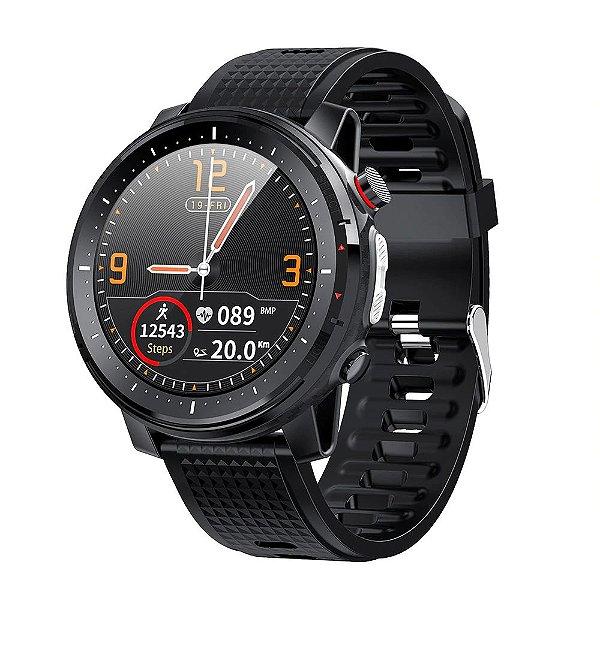 Relógio Smartwatch L15 - Preto com Pulseira Preto - IOS e Android