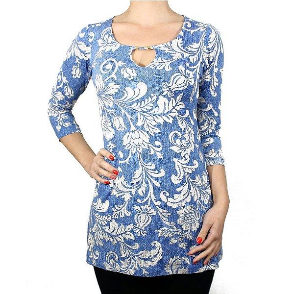 Tuniquete de Viscolycra Floral Azul - Hanagriff