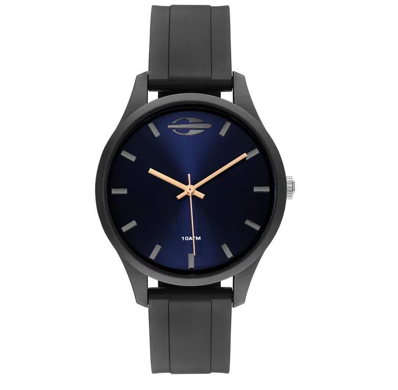 Relógio Analógico Mormaii Wave - Preto com mostrador Azul Metálico - MO2035JS/8J