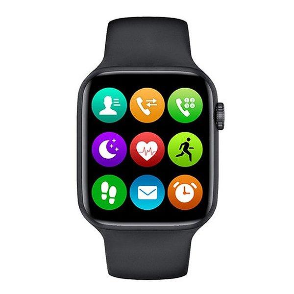 Relógio Smartwatch IWO W26 - Preto - Tela Infinita - IOS / Android - 40mm