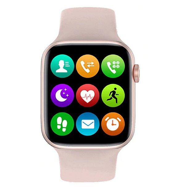 Relógio Smartwatch IWO W26 - Rosa - Tela Infinita - IOS / Android - 40mm