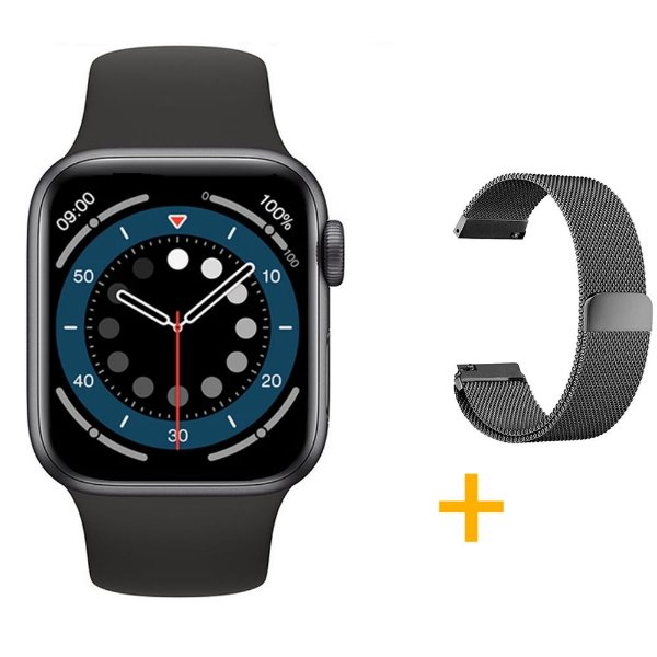 Relógio Smartwatch IWO 13 Tela Infinita - Preto - 44mm + Pulseira Extra