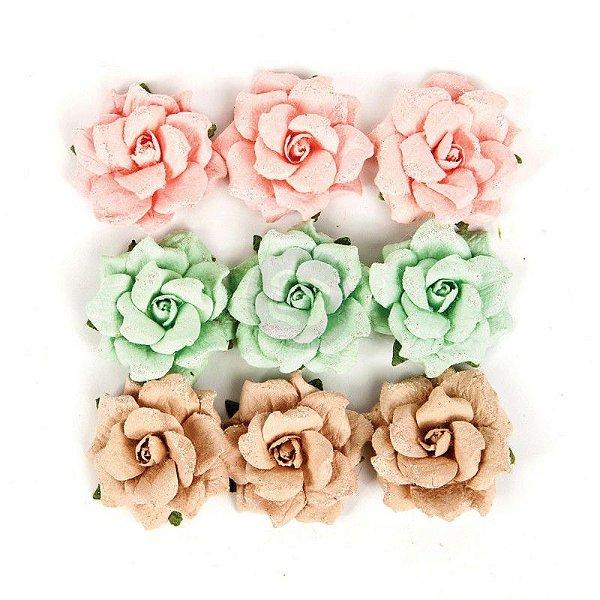 Flores artesanais Wild+Free com glitter- Prima