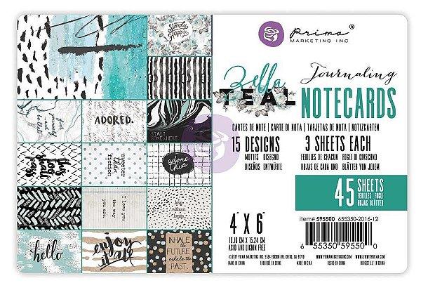 Bloco de papéis 10 x 15cm -  Zella Teal - Prima Marketing