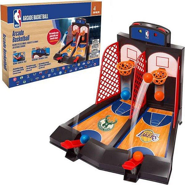 Brinquedo Infantil Basquete De Mesa Duplo Criança Placar Manual NBA Maccabi