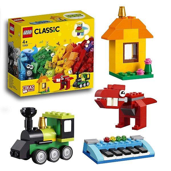 Lego Classic Peças e Ideias Criativas Blocos Infantil Divertidos 123pcs +4 anos