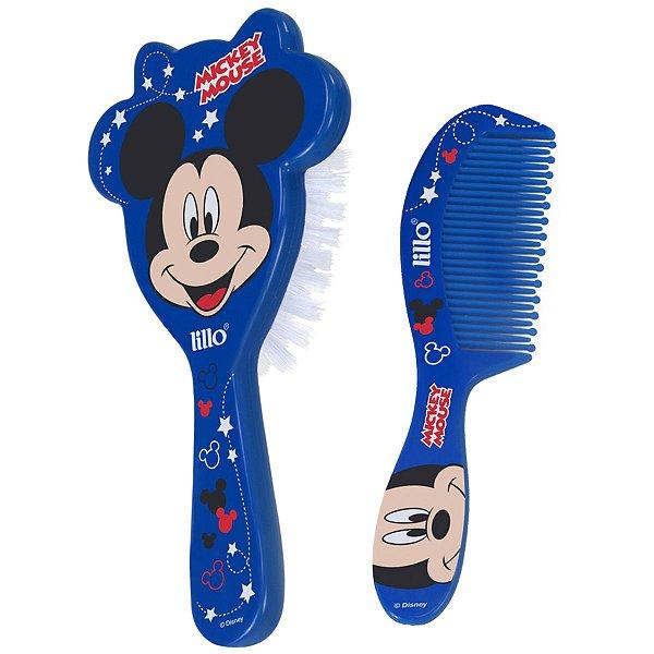 Conjunto Escova e Pente Para Bebê Mickey Disney A Partir de 0 Meses Divertido Lillo