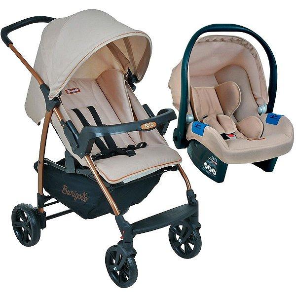 Kit Travel System Ecco Mon Amour Carrinho de Bebê Até 15Kg + Cadeirinha Touring X - Burigotto