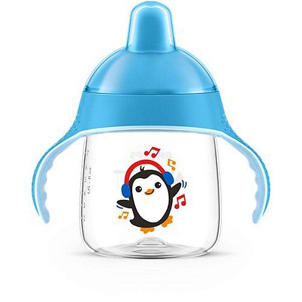 Copo de Treinamento Avent Com Alças Infantil Bebê Antivazamento A Partir de 12 Meses Azul Philips Copo de Transição
