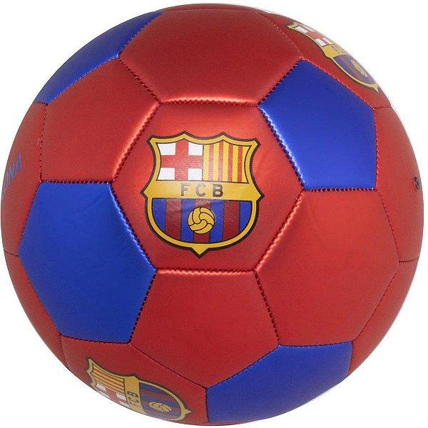 Bola de Futebol Barcelona Oficial Tamanho 5 Metalizada Com Costura Maccabi Art