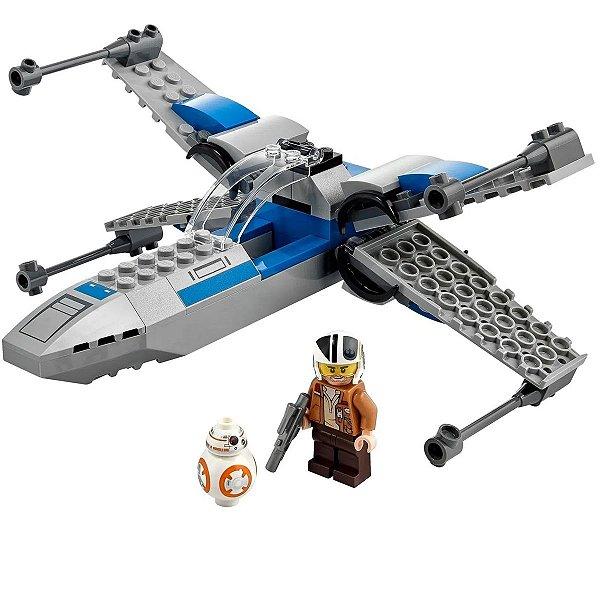 Brinquedo Lego Star Wars Criança Com 60 Peças +4 Anos X-Wing Resistencia
