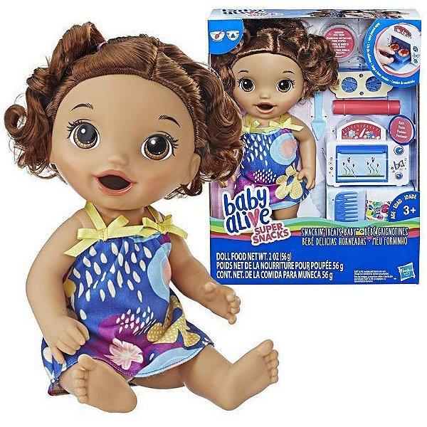 Boneca Cabelo Castanho Baby Alive Forninho Hasbro E2098