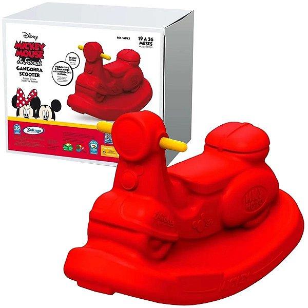 Gangorra Infantil Criança Scooter Mickey Disney 19 a 36 Meses Xalingo Vermelho