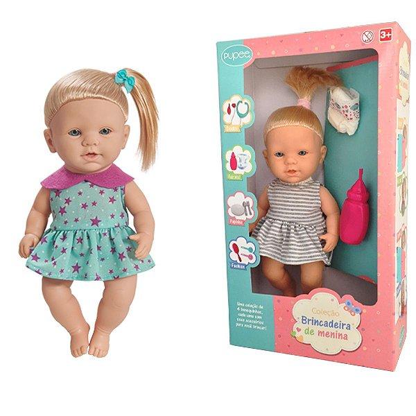 Boneca Infantil Crianças A partir dos 3 Anos Com Acessórios Xixi Quero ser Mamãe Pupee