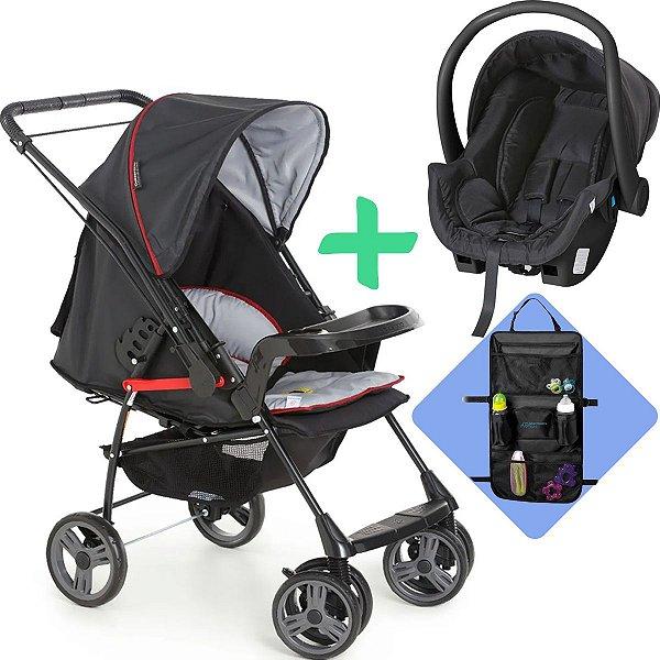 Carrinho de Passeio Bebê Milano com Bebê Conforto Cocoon Galzerano + Brinde