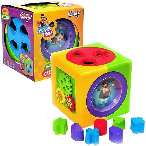 Cubo de Atividades Didática Mundo Bita Baby Cubo Para +12 Meses