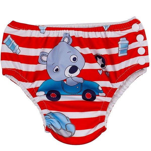 Sunguinha Bebê Infantil Piscina Ajustável Tamanho 12 - 18 Meses Urso Baby Comtac