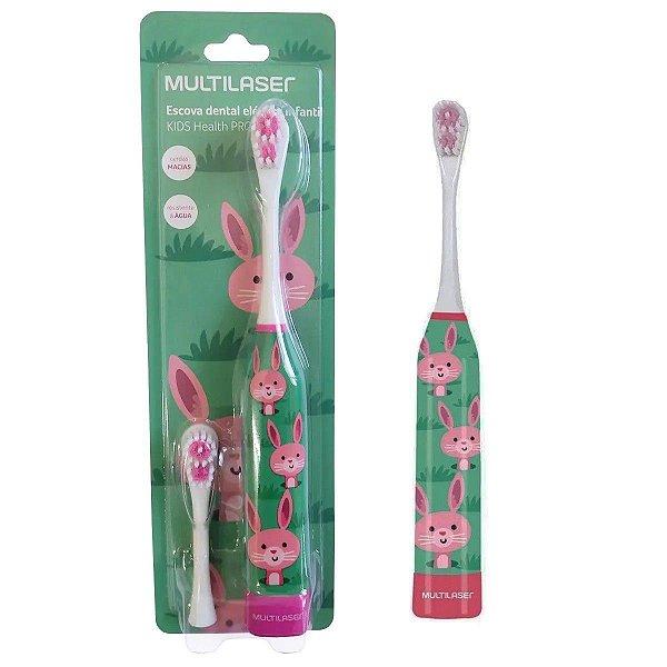 Escova Dental Infantil Elétrica Coelho Kids Healt Pro Multilaser