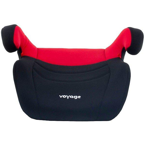 Assento Booster Infantil para Carro Auto Criança De 15 a 36kg Top Preto e Vermelho - Voyage